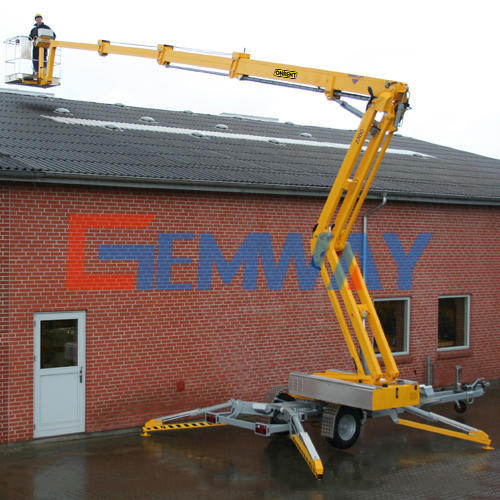 boomlift used for fixing the roof