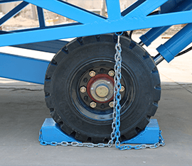 mobile loading ramp solid tire and wheel blocks